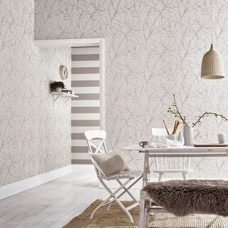 Graham & Brown Innocence Stone/ Cream Wallpaper