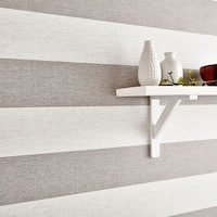 Graham & Brown Calico Stripe Natural Wallpaper