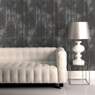 Graham & Brown Eternal Charcoal/ Silver Wallpaper
