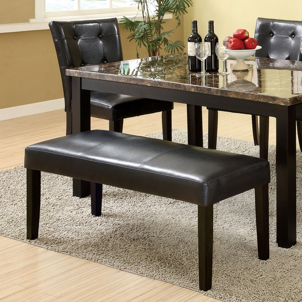 Perthien Modern 44-inch Black Upholstered Dining Bench by FOA
