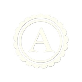 Dorset Ivory White Monogram Kit - 34.5in x 39in x 0.125in