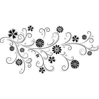 Floral Silhouette Wall Art Kit - 34.5in x 39in x 0.125in