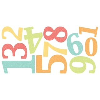 Numbers Wall Stickers - 11.8in x 24in x 0.125in