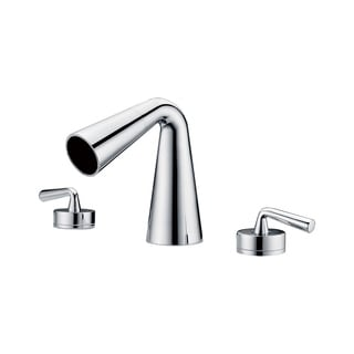 ALFI brand AB1790-PC Polished Chrome Widespread Cone Waterfall Bathroom Faucet
