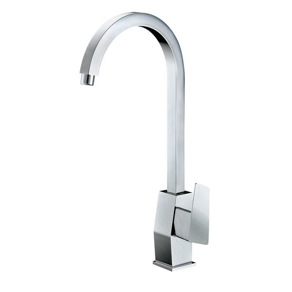 ALFI brand AB3470-PC Polished Chrome Gooseneck Single Hole Bathroom Faucet