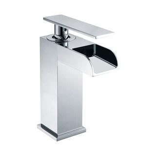 ALFI brand AB1598-PC Polished Chrome Single Hole Waterfall Bathroom Faucet