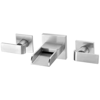 ALFI brand AB1796-BN Brushed Nickel Widespread Wall Mounted Modern Waterfall Bathroom Faucet