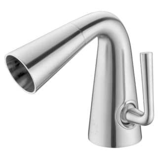 ALFI brand AB1788-BN Brushed Nickel Single Hole Cone Waterfall Bathroom Faucet