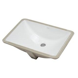 "EAGO BC302 White Ceramic 22""x15"" Undermount Rectangular Bathroom Sink"