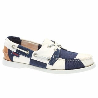 Sebago Women's Spinnaker Boat Shoes Navy White Stripe Canvas