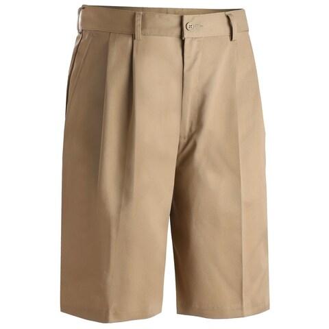 Edwards Mens Shorts Khaki Poly/Cotton Pleated Front