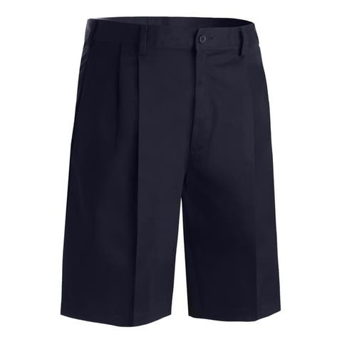 Edwards Mens Shorts Navy Poly/Cotton Pleated Front
