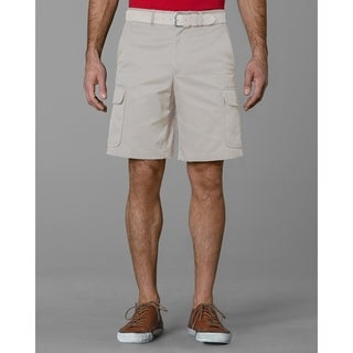 Twin Hill Mens Shorts Khaki Poly/Cotton Flat Front