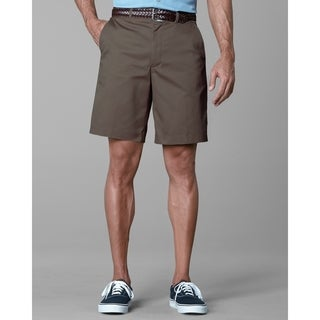 Twin Hill Mens Shorts Brown Poly/Cotton Flat Front
