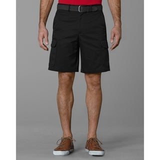 Twin Hill Mens Shorts Black Poly/Cotton Flat Front