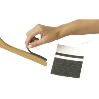 Black Foam Adhesive Non-Slip Strips, Box of 100 Foam Strips Work with Any Standard Hanger