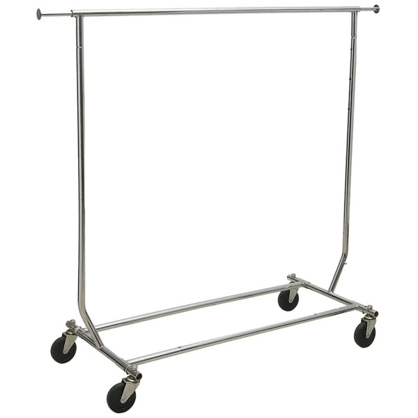 Collapsible Commerical Grade Chrome Garment Rack with Adjustable Height and Length, box of 1