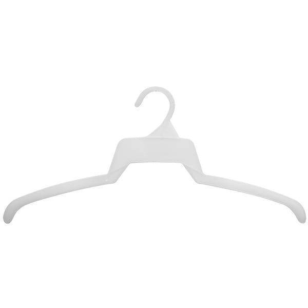 Super Thin White Plastic Top Hanger, Box of 500 Flat Space Saving Shirt Hangers