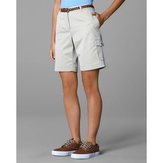 Twin Hill Womens Shorts Khaki Poly/Cotton Flat Front (More options available)