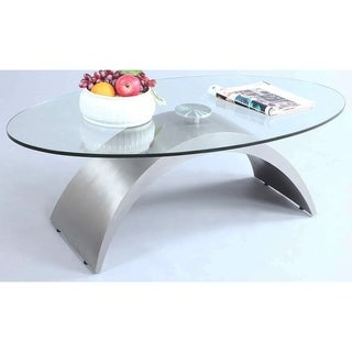 Christopher Knight Home Iris Glass and Stainless Steel Cocktail Table