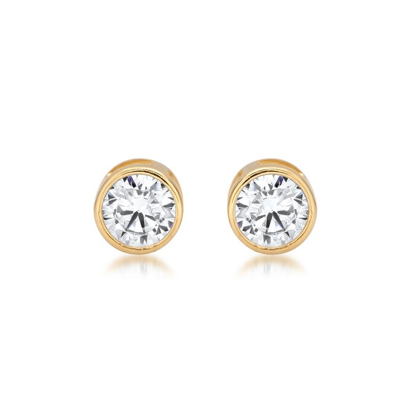 zirconia halo stud rose gold cubic p plated htm earrings