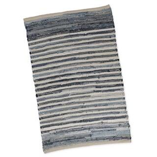 "Denim Stripe Chindi Rug- 20 x 31.5"""