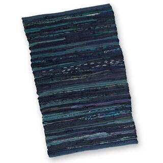 Blue Chindi Rug- 2' x 3'