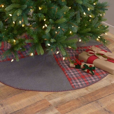 """Anderson 60"""" Patchwork Tree Skirt"""
