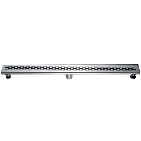 """Alfi Brand ABLD36C 36"""" Modern Stainless Steel Linear Shower Drain with Groove Holes"""