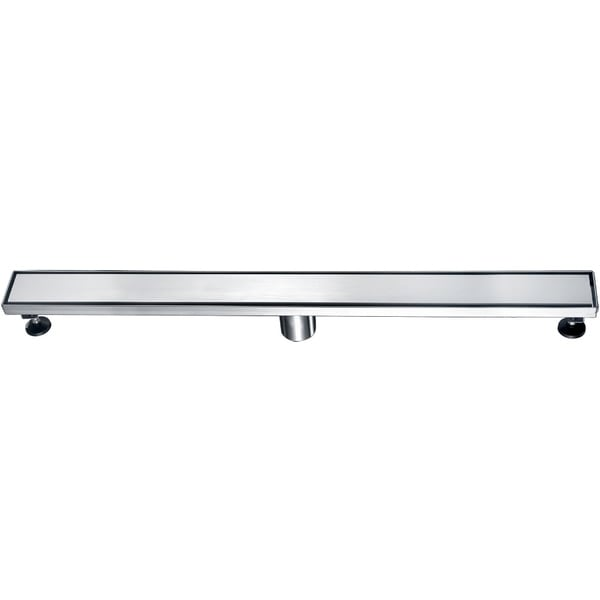 """Alfi Brand ABLD32B 32"""" Modern Stainless Steel Linear Shower Drain with Solid Cover"""