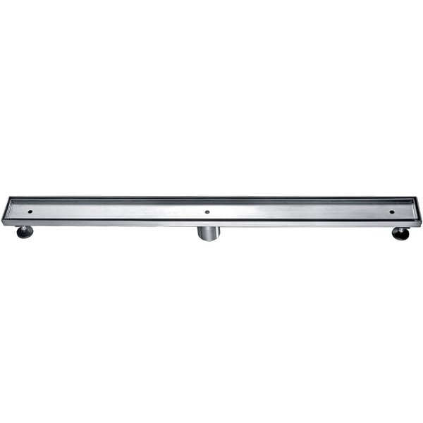 """Alfi Brand ABLD36A 36"""" Modern Stainless Steel Linear Shower Drain without Cover"""