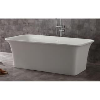 Alfi Brand AB9942 White Solid-surface Smooth Resin 67-inch Rectangular Soaking Bathtub https://ak1.ostkcdn.com/images/products/17807226/P24000910.jpg?impolicy=medium