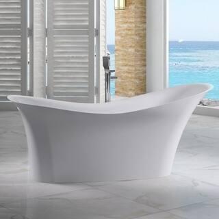 Alfi Brand AB9915 White Resin 74-inch Smooth Solid-surface Soaking Slipper Bathtub https://ak1.ostkcdn.com/images/products/17807241/P24000919.jpg?impolicy=medium
