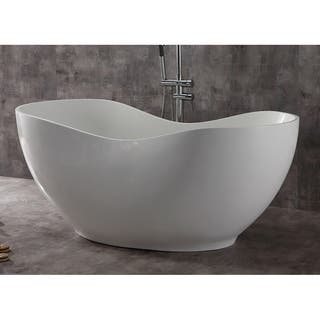 Alfi Brand AB9949 White-finished Resin 66-inch Smooth Solid-surface Soaking Bathtub https://ak1.ostkcdn.com/images/products/17807243/P24000868.jpg?impolicy=medium