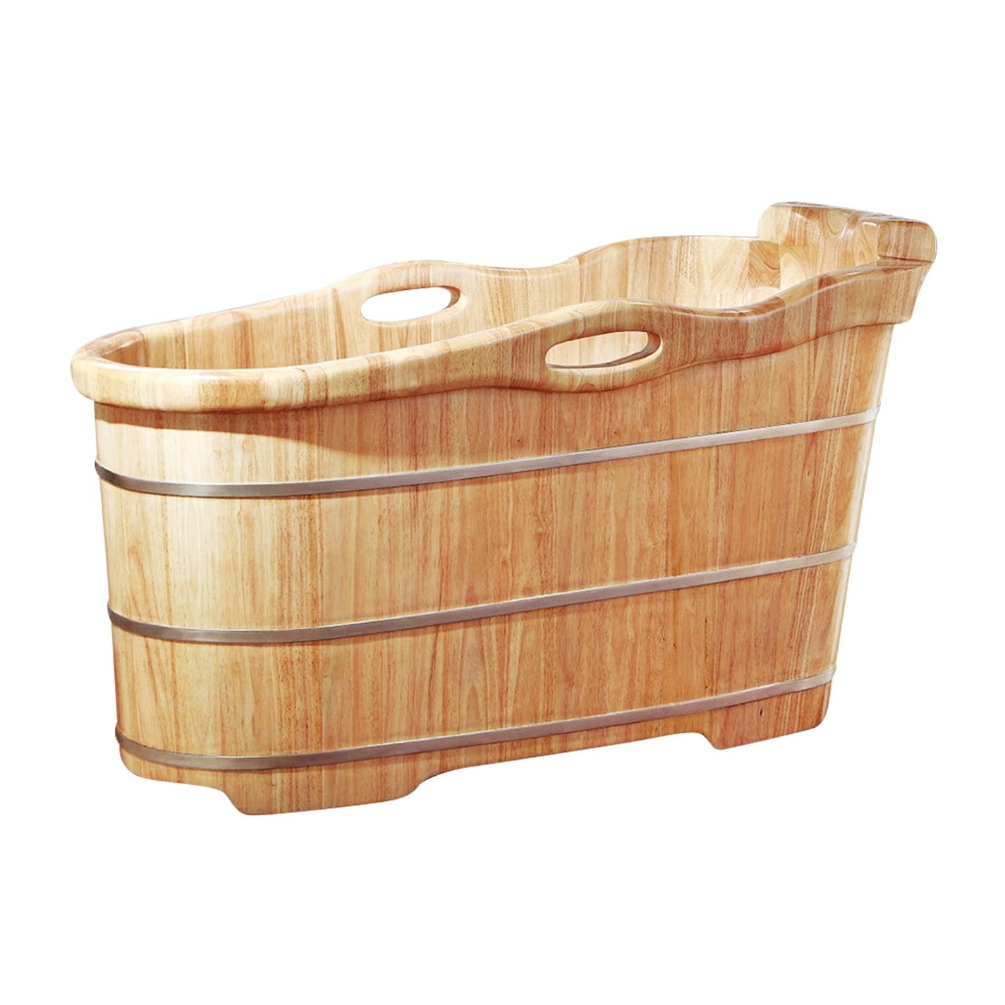 "Alfi brand AB1187 57"" Free Standing Rubber Wooden Soaking..."