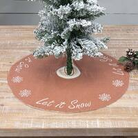 Let It Snow Mini Tree Skirt