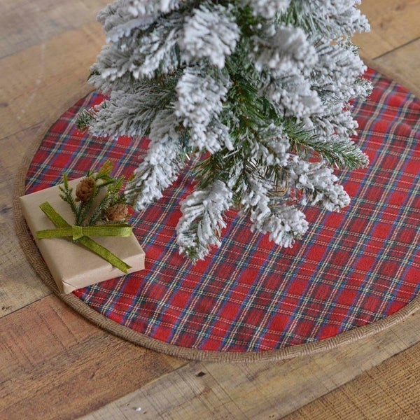 Shop Red Rustic Christmas Holiday Decor VHC Gavin Tree ...
