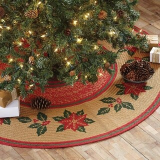 Poinsettia Jute Tree Skirt