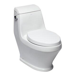 EAGO TB133 Single Siphonic Flush One Piece Ceramic Toilet