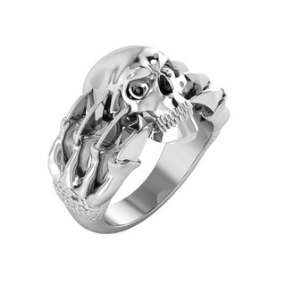 Sterling Silver Skull Ring with Claws for Father's day,Birthday and Holiday (More options available)