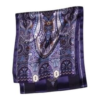 Twin Hill Women's Purple Silk scarf