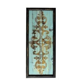 """30"""" Wood Deco- Blue"""