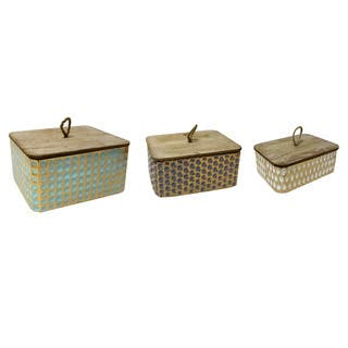 Set of 3 Rectagnlur Metal & Wood Box|https://ak1.ostkcdn.com/images/products/17808120/P24001948.jpg?impolicy=medium