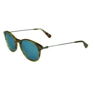 Kenneth Cole Women's KC7202 53X Blonde Havana w/ Blue Mirror Lens Sunglasses