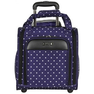 Kenneth Cole Reaction Dot Matrix 14-inch Polka Dot Rolling Carry On Underseat Tote Bag