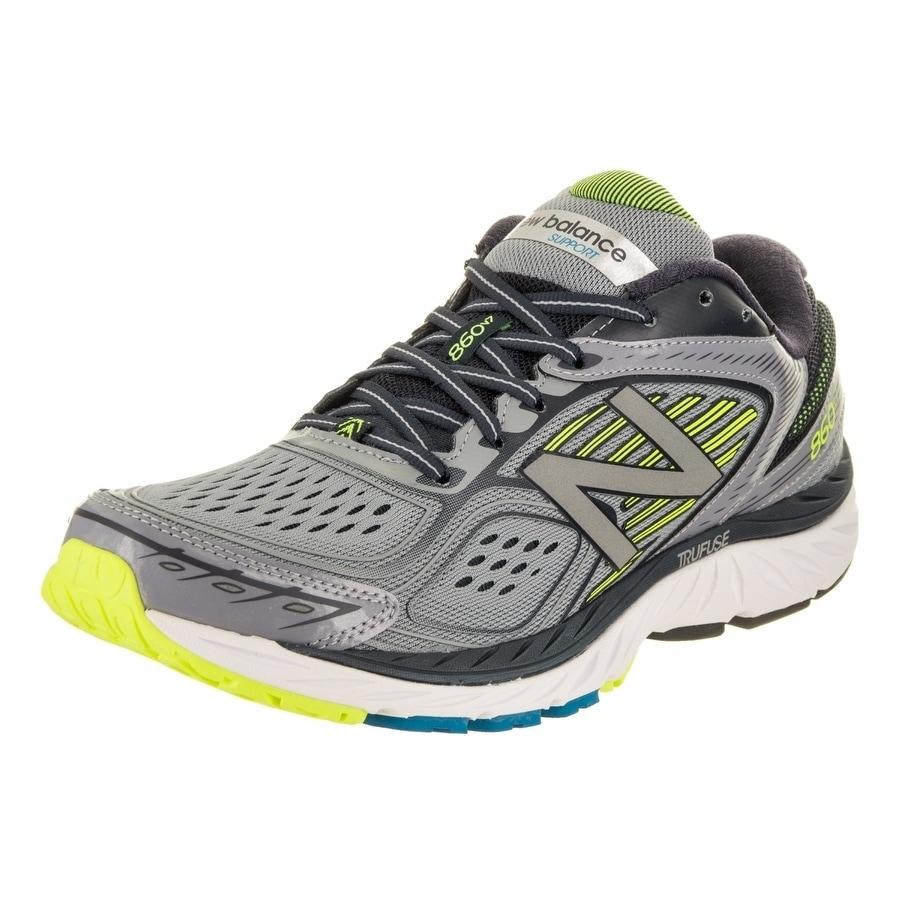 New Balance Men's 860v7 Running Shoe (11), Grey (Syntheti...