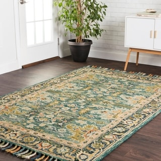 Hand-hooked Sonnet Blue/ Navy Rug (3'6 x 5'6)