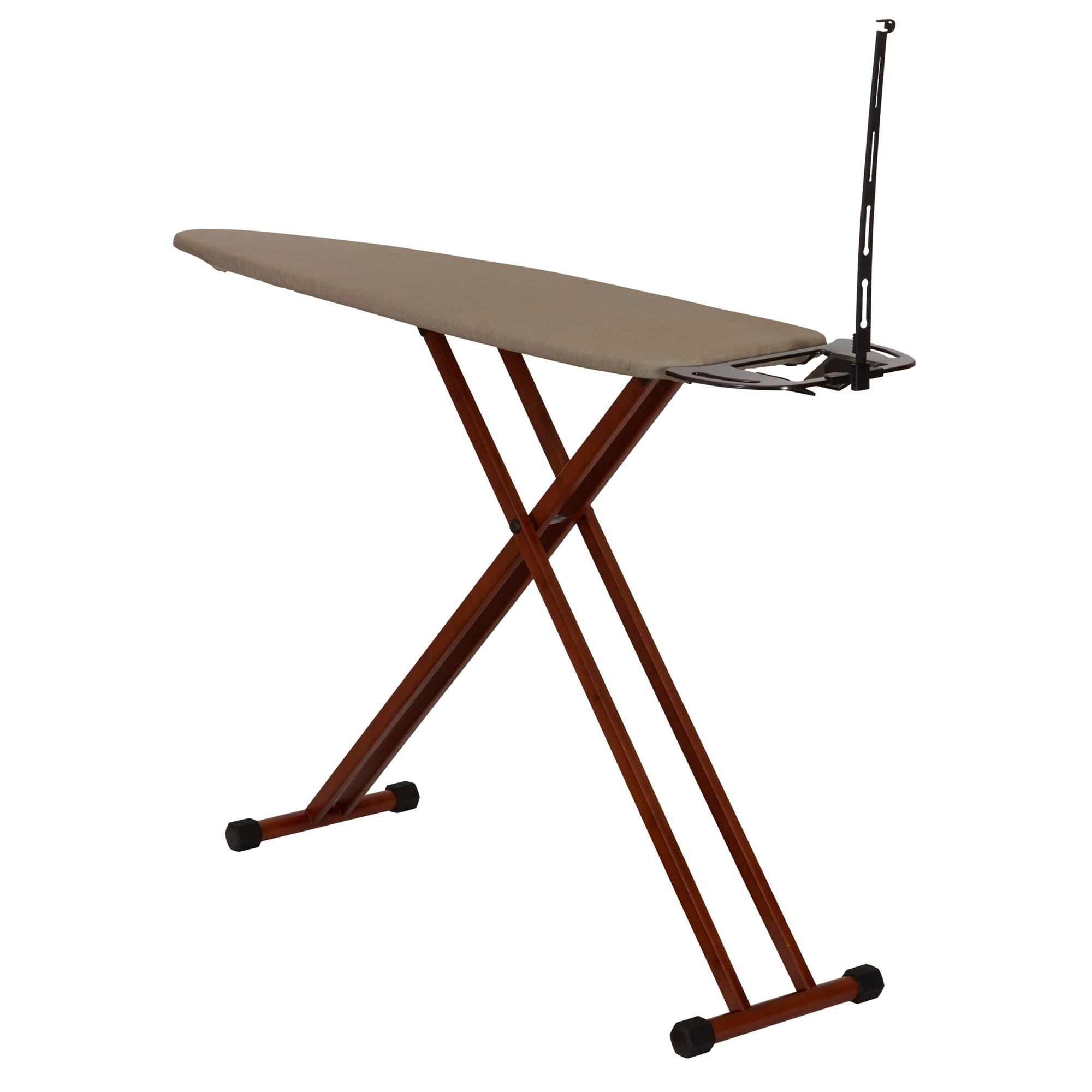 Household Essentials Bamboo (Green) Leg Ironing Board wit...