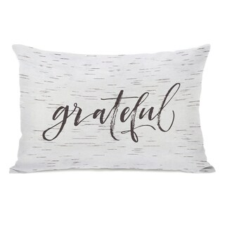 Grateful Birch - Tan Throw Pillow by OBC