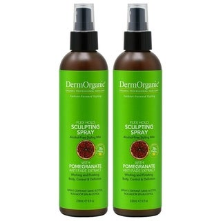 DermOrganic Flex Hold 8.5-ounce Sculpting Spray with Argan Oil (Pack of 2)